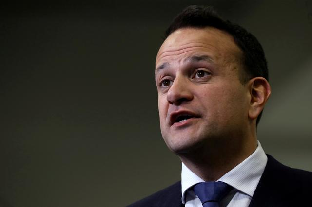 FILE PHOTO: Irish Prime Minister Leo Varadkar speaks at a count centre, during Ireland's national election, in Citywest, near Dublin, Ireland, February 9, 2020. REUTERS/Lorraine O'Sullivan/File Photo
