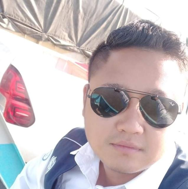 A selfie of Pyae Sone Win Maung, 28, driver for World Health Organization (WHO), who was killed when a WHO vehicle carrying swabs from patients to be tested for coronavirus came under gunfire in Myanmar's western Rakhine state, is seen in this undated handout photo provided by Pyae Sone Win Maung's family on April 21, 2020. Pyae Sone Win Maung family/Handout via REUTERS