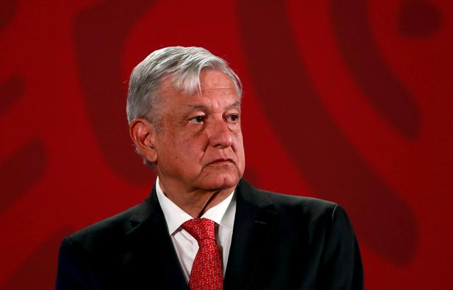 FILE PHOTO: Mexico's President Andres Manuel Lopez Obrador holds a news conference at the National Palace in Mexico City, Mexico, March 17, 2020. REUTERS/Henry Romero/File Photo