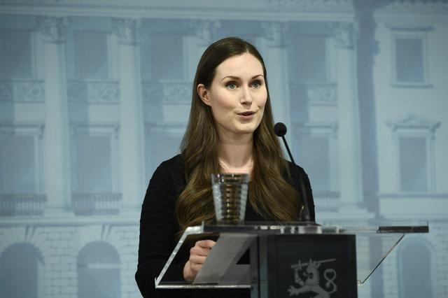 Finland's Prime Minister Sanna Marin speaks during a news conference of the Finnish Government, regarding the coronavirus disease (COVID-19) spread, in Helsinki, Finland, May 4, 2020. Lehtikuva /Emmi Korhonen via REUTERS