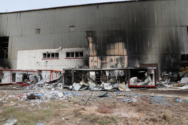 Damage is seen following shelling at Tripoli's Mitiga airport in Tripoli, Libya May 10, 2020. REUTERS/Ismail Zitouny