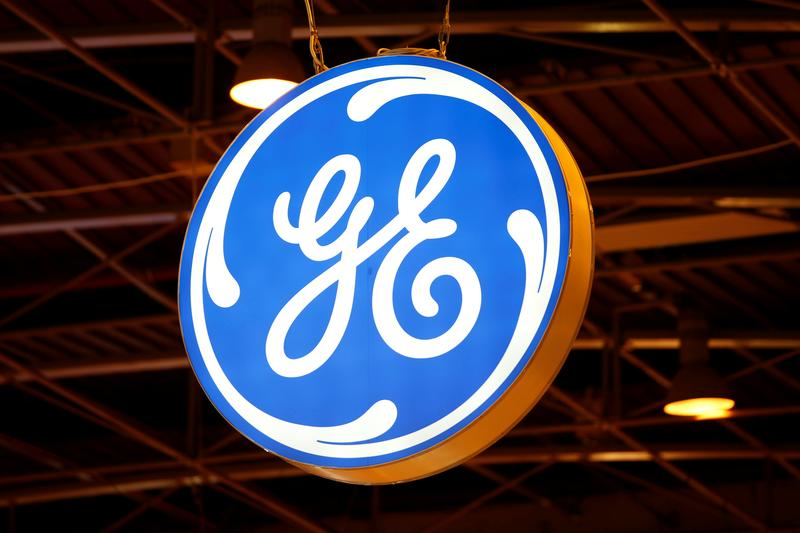 FILE PHOTO: The logo of General Electric is pictured at the 26th World Gas Conference in Paris, France, June 2, 2015. REUTERS/Benoit Tessier/File Photo