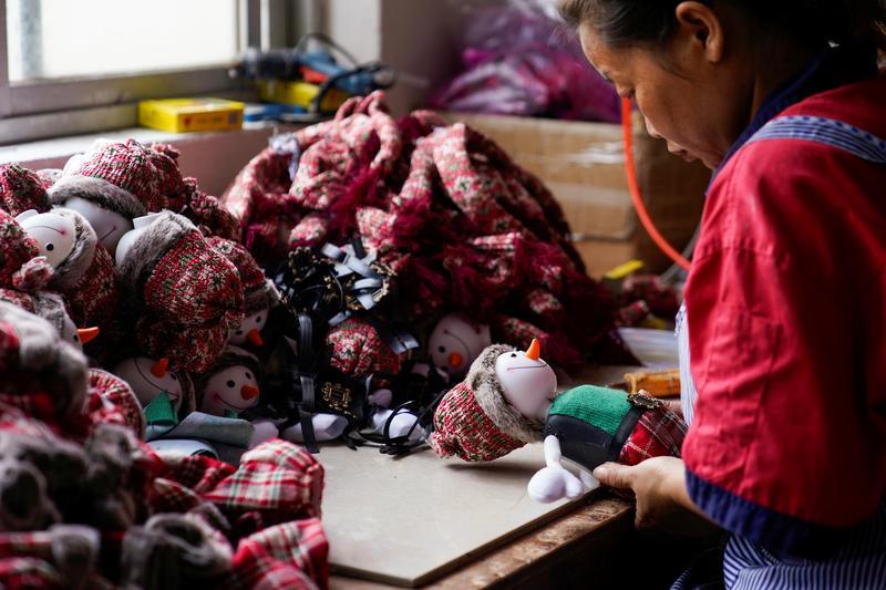 Coronavirus dampens seasonal cheer in China's Christmas production hub