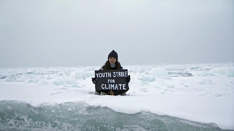 Teenage British activist stages climate protest on Arctic ice floe - Reuters India