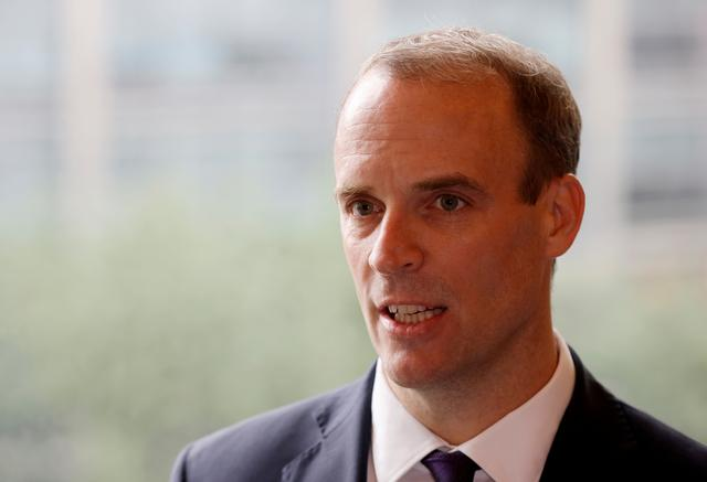 UK foreign minister Raab says hopeful of closing gap in EU talks before summit