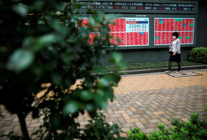 Asian markets jump on vaccine, U.S. aid hopes; gains capped by China data