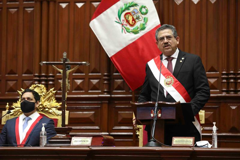 Peru's Interim President Manuel Merino Resigns After Protest Deaths