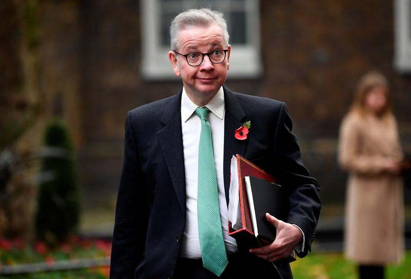 UK's Gove says: there's a chance of a no-deal Brexit