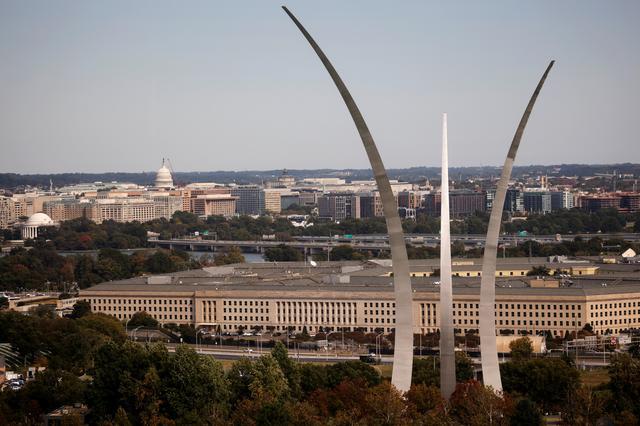 FILE PHOTO: The Pentagon building is seen in Arlington, Virginia, U.S. October 9, 2020. REUTERS/Carlos Barria/Files