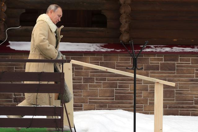 Vladimir Poutine eau glacée