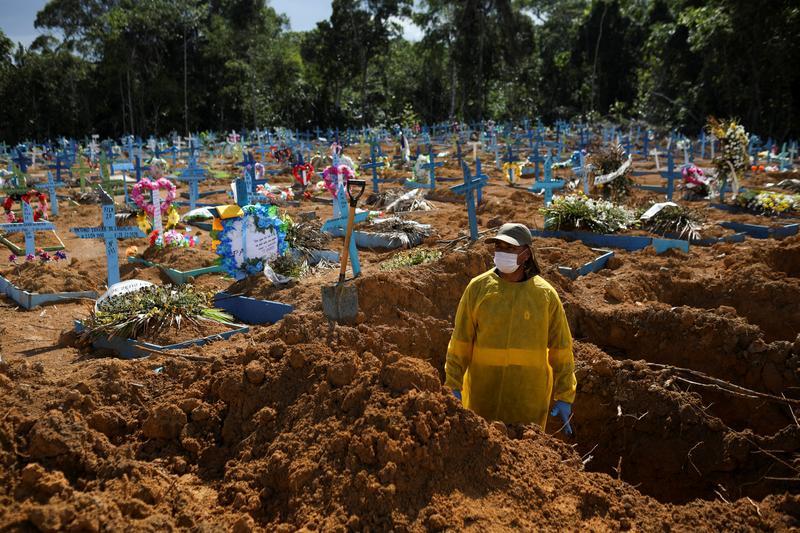 Brazil registers 1,340 new coronavirus deaths on Wednesday - Reuters