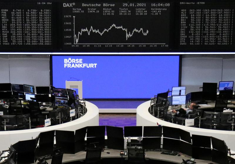 European shares flat after U.S. jobs data; pound weighs on FTSE 100