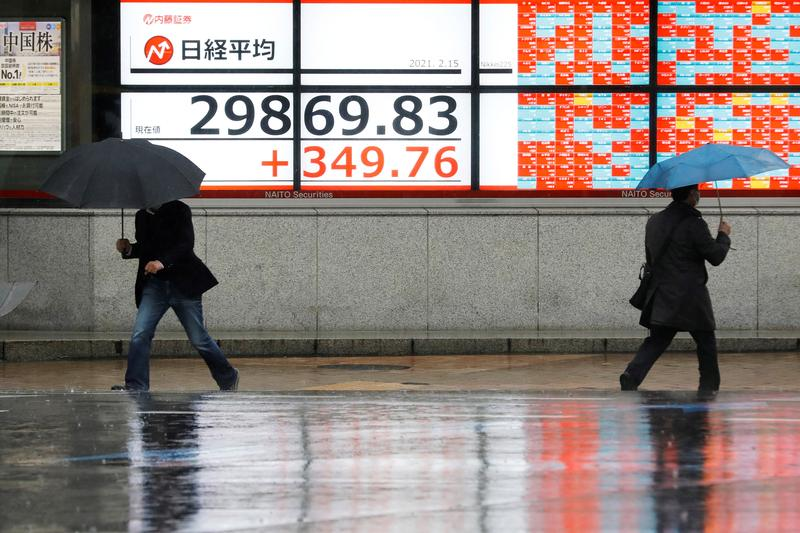 Asian shares hit all-time highs, oil rises on Middle East tensions