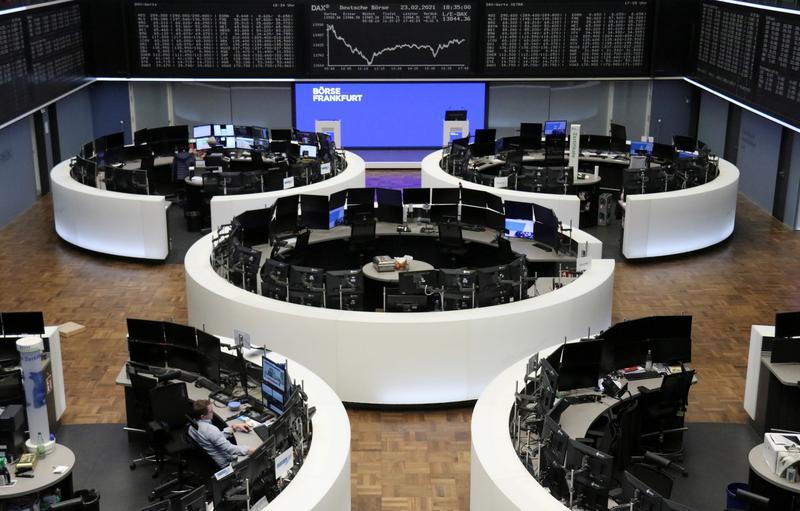 Upbeat German data lifts European shares; Puma, AstraZeneca weigh