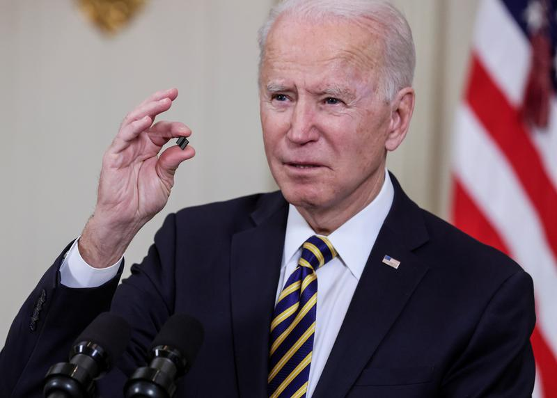 Biden to press for $37 billion to boost chip manufacturing amid shortfall