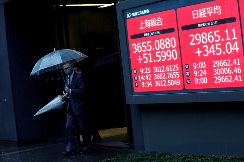 Asian shares jump after Powell nixes rate hike fears