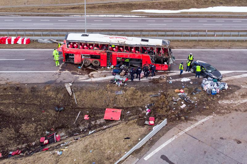 Five people killed in Ukrainian bus crash in Poland | Reuters