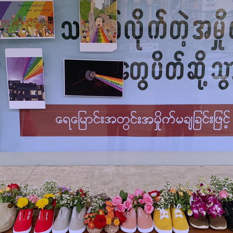 myanmar-activists-hold-shoe-protests-another-celebrity-detained