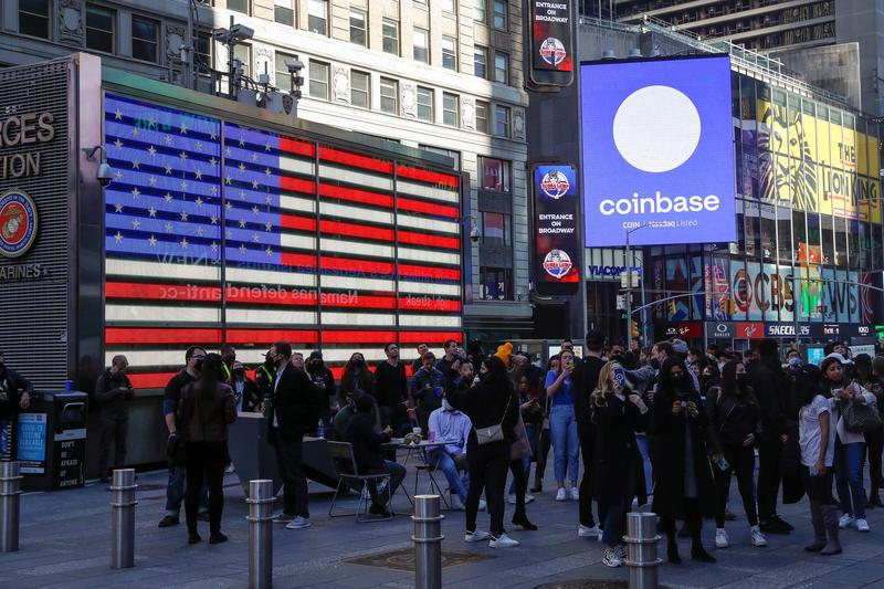 Coinbase valued at $86 billion in choppy Nasdaq debut