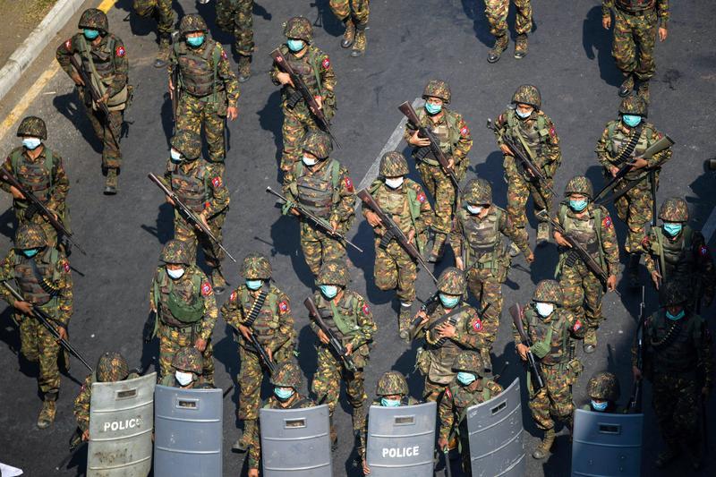 Global firms leave Myanmar office block with military ties