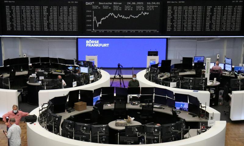 Slide in pharma stocks keeps Europe below record highs after volatile week